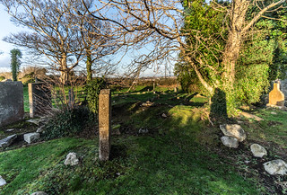 ANCIENT CHURCH AND GRAVEYARD AT TULLY [LAUGHANSTOWN LANE NEAR THE LUAS TRAM STOP]-134596