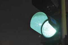 Go, Bee Free! (robinshepperson) Tags: nikon d3400 light night street berlin germany turmstrasse moabit urban traffic green bee sticker dark evening signal go illumination deustchland