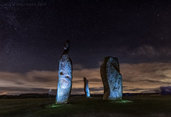 Ghost Of A Chance (ianrwmccracken) Tags: standingstones night d750 scotland ianmccracken stars sky fife lowlight lundinlinks nikkor1635mmf4 nikon speedlight sb910