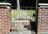 M Kirby Hosp (Allen F. Moore Estate) c1912 Brick Fence, 1111 N. State St, Monticello, IL 20170731-30 (RLWisegarver) Tags: piatt county history monticello illinois usa il