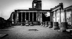 Basilica, Pompeii Nov. 1993 (bobbex) Tags: romanruins vesuvius napoli italia archaeology excavations classicalrome bw blackandwhite