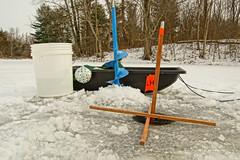 Gear (thetrick113) Tags: icefishing tipup auger moraiceauger mora ice 8inchmoraiceauger fishing iceauger 2017 winter2017 winter sonyslta65v dutchesscountynewyork hudsonvalley hudsonrivervalley sled bait hole cold flag
