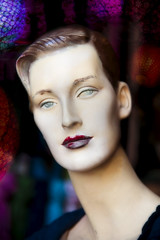 A cool lady (madmtbmax) Tags: model schaufensterpuppe dummy mannequin displaydummy beautyshooting lips lipstick cool gaze portrait porträt photoshopped luminar face female woman blick look icyeyes