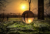 Sun Sphere (Christina Draper) Tags: sphere globe woods sun wall landscape sunrise
