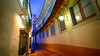 Alley in Barcelona, Spain (` Toshio ') Tags: toshio barcelona spain pobleespanyol spanish architecture building espana europe european europeanunion alley fujixe2 xe2 city rail window evening
