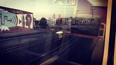 south (Brisan) Tags: commuters commute commuting travel urban city curve announcement reflection tracks sanfrancisco usa ca california bombardier transportation public transit motion video train caltrain