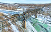 P&WV Banning Bridge (benpsut) Tags: wle wle101 we we101 frozen winter snow youghriver youghioghenyriver wlepittsburghsub pwv banning banningbridge bridge trestle high frozenriver trains railroad