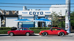 Taco Coyo - Wynwood Arts District - Miami, Florida (ChrisGoldNY) Tags: friendlychallenges challengewinners chrisgoldphoto chrisgoldny chrisgoldberg forsale licensing bookcovers bookcover albumcover albumcovers sonyalpha sonya7rii sonyimages sony red rouge miami florida southflorida miamidade america usa cars vintage retro colors colours colorful colourful coyo coyotaco restaurants umbrellas streets urban city porche