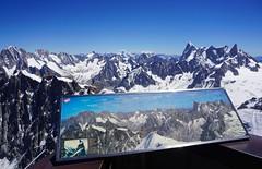 Panorama Mont Blanc massif and Pennine Alps from Aiguille du Midi. Chamonix. (elsa11) Tags: aiguilleverte aiguilleduplan lesdroites lescourtes triolet grandcombin cervin matterhorn montrose monterosa grandejorasses dentdugéant montblancmassif rhonealps hautesavoie alps alpen france frankrijk aiguilledumidi penninealps