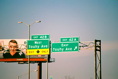 Touhy Ave. Des Plaines (Cragin Spring) Tags: desplaines desplainesil desplainesillinois illinois il midwest unitedstates usa unitedstatesofamerica interstate sign tollroad billboard