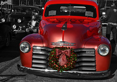 Merry Christmas! (Pomona Swap Meet) Tags: pomonafavorites pomonaswapmeet christmas chevy chevrolet chevytrucks classictrucks flames custompaint