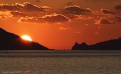 Lerici sunset 01 (- Crupi Giorgio (official)) Tags: italy liguria laspezia landscape seascape sunset sea sky silhouette clouds sun nature canon canoneos7d canon70300mm