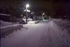 Night road (threepinner) Tags: snow night mikasa hokkaidou hokkaido northernjapan japan canon av1 nfd 28mm f28 negative iso100 selfdeveloped negaposidevelopment reversal 三笠 北海道 北日本