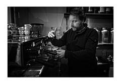 Cappuccino (Photodoos) Tags: foam food drink restaurant coffee cappuccino blackwhite black white monochrome milk cafe zeeuwse hemel