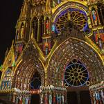 Lighting on the cathedral of Reims thumbnail