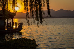 West Lake Sunset (Robert Borden) Tags: lake water hangzhou china asia travel canon canonrebel canonphotography beautiful silhouette