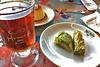 Istanbul - Hafiz Mustafa tea and baklava (raluistro) Tags: istanbul hafizmustafa asia europe turkishdelight baklava