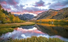 Epic High Resolution Sony A7RII North Lake Bishop Creek California Fall Colors! Autumn Foliage Under Pink & Red Clouds Reflected in North Lake at Sunset!  Elliot McGucken Landscape & Nature Fine Art Photography.  Giant Poster/Billboard sized! (45SURF Hero's Odyssey Mythology Landscapes & Godde) Tags: epic high resolution sony a7rii north lake bishop creek california fall colors autumn foliage under pink red clouds reflected sunset elliot mcgucken landscape nature fine art photography giant poster billboard sized