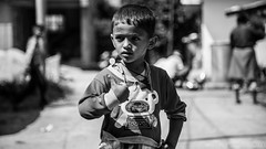 Thumbs Up (#Weybridge Photographer) Tags: adobe lightroom canon eos dslr slr 5d mk ii mkii kathmandu nepal asia child boy thumbs up monochrome