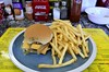 Cheeseburger with Fries (pjpink) Tags: popsdogs masburgers popsdogsmasburgers eatery kitsch kitschy northside rva richmond virginia october 2017 fall pjpink 2catswithcameras burger fries