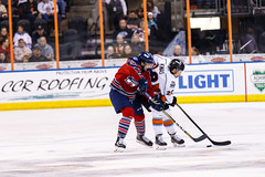 "Kansas City Mavericks vs. Kalamazoo Wings, January 5, 2018, Silverstein Eye Centers Arena, Independence, Missouri.  Photo: © John Howe / Howe Creative Photography, all rights reserved 2018. • <a style=""font-size:0.8em;"" href=""http://www.flickr.com/photos/134016632@N02/25707978658/"" target=""_blank"">View on Flickr</a>"