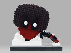 CoolStoryPool (BrickinNick) Tags: lego deadpool bob ross build twitch creative character bust hands face cool story coolstory