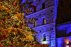 Oh Christmas Tree (Paul B0udreau) Tags: photoshop canada ontario paulboudreauphotography niagara d5100 nikon nikond5100 layer toronto distillerydistrict torontochristmasmarket nikkor50mm18 lights tripod gooderhamworts christmastree exploreworthy explore