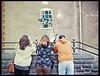 34a - 3 Banksy Fans (LANCEPHOTO) Tags: olympus olympuspen olympuspenees halfframe halfframecamera kodak ektachrome ektachrome64t ek64t tungsten crossprocess c41 color banksy bristol uk england graffiti streetart streetphotography film4life