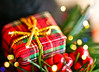 Merry Christmas Flickr! (Dee Gee fifteen) Tags: christmas greeting present bokeh plaid decoration