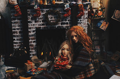 happy new year II (AzureFantoccini) Tags: newyear new year holidays winter fireplace stilllife christmas doll dollhouse miniature diorama bjd abjd balljointeddoll supia jiin ozin5 emon granado hybrid interior room dollroom