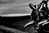 Road trip (Meculda) Tags: moto noiretblanc blackandwhite monochrome monochrom nikon extérieur france retroviseur route champs landscape