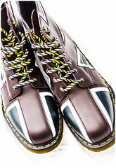 Dr Martens Union Jack, Pascal. . . (CWhatPhotos) Tags: cwhatphotos dr marten martens docs doc dm dms airwair yellow stitching union jack flag uk laces lace cushioned sole new artist artistic view