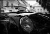PORSCHE HEADLIGHT (sick4pic) Tags: bw blackandwhite contrast car porsche vintage old oldtimer headlight topless