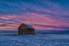 Happy New Year (jchowaniec) Tags: sunset dusk twighlight landscapes abandoned places winter snow colour color sky pink blue purple nature landscape canon longexposure