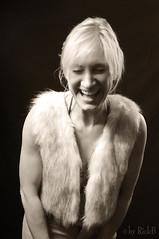 Fun House (RickB500) Tags: portrait girl fun rickb rickb500 bnw funhouse vintage