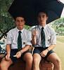 12 (cane4u) Tags: boy boys schoolboy schoolboys teenage teenager school uniform grey shorts socks tie blazer spanking headmaster discipline corporal punishment cp cane caning strap tawse paddle birch