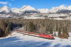Full house :)   383.101   ZSSK   R 603   Štrba (lofofor) Tags: electric vectron 383 101 siemens zssk tatry vysoké hightatras štrba zima sneh hory