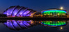 Glasgow Clydeside... SECC/Hydro (Catherine Cochrane) Tags: clyde reflections scotland landscape night clouds glasgow clydeside secc water sky lights bluehour uk