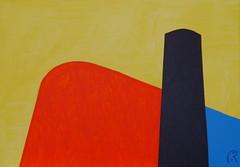 Savoye -  by Jan Theuninck, 2017 (Gray Moon Gallery) Tags: savoye jantheuninck lecorbusier black blue yellow red phallicsymbol villasavoye architecture architect corbusier
