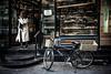 Ak Fırın (Melissa Maples) Tags: istanbul turkey türkiye asia 土耳其 apple iphone iphone6 cameraphone kadıköy caferağa moda bike bicycle turk woman bakery doorway akfırın
