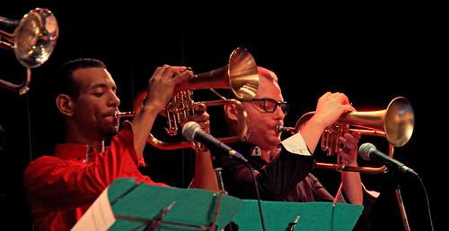Nicolas Sanchez (tp) et ..., Jazz Station Big Band, Centre culturel d'Ans-Alleur, vendredi 03/11/2017.