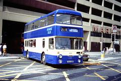 Pennine Blue 8135 (KWJ 135P) (SelmerOrSelnec) Tags: pennineblue daimler fleetline roe kwj135p manchester cannonstreet highstreet chesterfield bus