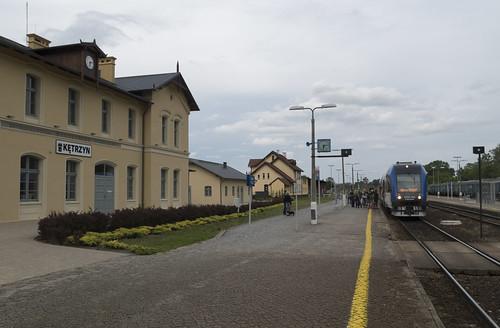 Diesel train Pesa 218Mc at the Kętrzyn railway station, 22.06.2017.