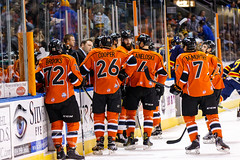 "Kansas City Mavericks vs. Colorado Eagles, December 16, 2017, Silverstein Eye Centers Arena, Independence, Missouri.  Photo: © John Howe / Howe Creative Photography, all rights reserved 2017. • <a style=""font-size:0.8em;"" href=""http://www.flickr.com/photos/134016632@N02/38428185554/"" target=""_blank"">View on Flickr</a>"