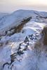 South Head snowdrifts (Keartona) Tags: southhead snowy snow edge stonewall hills hayfield derbyshire peakdistrict hill reeds winter weather dawn beautiful morning landscape england english december