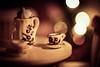 Dollhouse Bokeh. (icarium82) Tags: canoneos5dmarkiv erzgebirge memberschoicebokeh macromondays macro dollhouse tea teapot teacup play bokeh miniature christmas indoor sundaylights christmasspirit