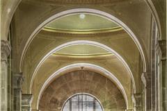 Art Deco Banking Hall (Gene Mordaunt) Tags: artdeco bankinghall commercecourtnorth toronto canada architecture arches hallway symmetry building vault geometric