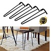 Set of 4 19-inch Metal Hairpin Legs w/ 16 Screws / Heavy Duty Use for Furniture Project and Wood Work - DiZiWoods Store (diziwoods) Tags: 19inch diziwoods duty furniture hairpin heavy legs metal project screws set store wood work