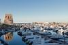 San Foca (LE) (ruggierodisavino) Tags: tramonto mare puglia blu cielo azzurro panorama italia lungomare luna street strada spiaggia oceano sanfoca porticciolo sole torre italy