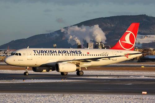 TC-JLT Airbus A319 @ Salzburg 30th December 2018
